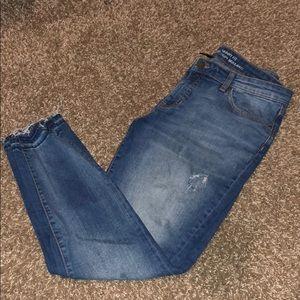 Gap skinny fit cuffed jeans